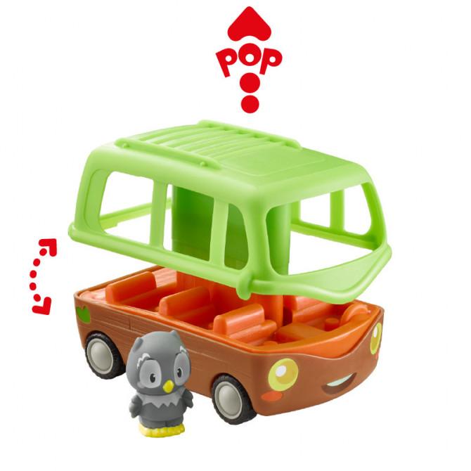 Le Bus aventure Les Klorofil + 2 personnages de la famille Nocty
