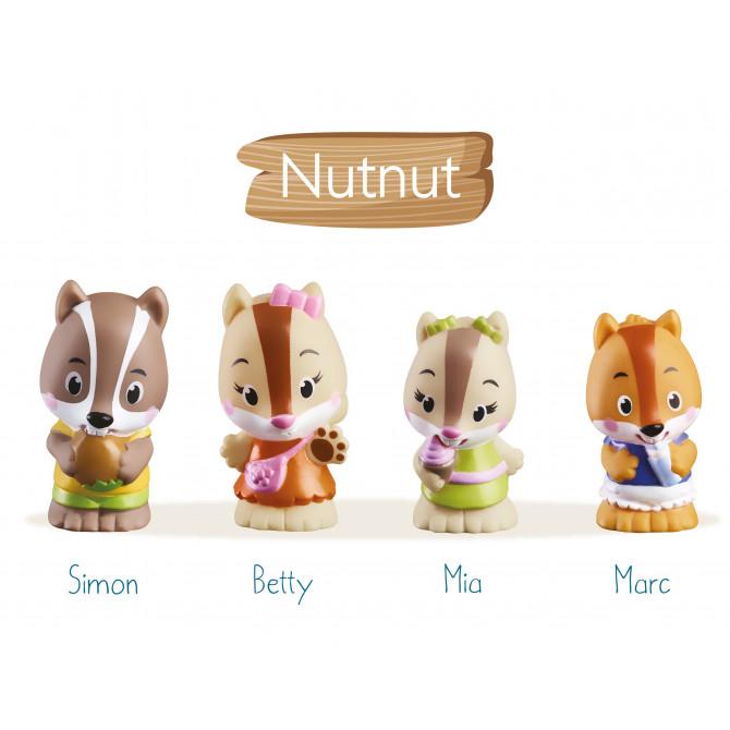 4 personnages  famille « NutNut »
