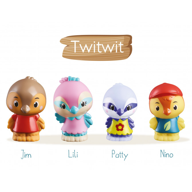 4 personnages |famille « Twitwit »