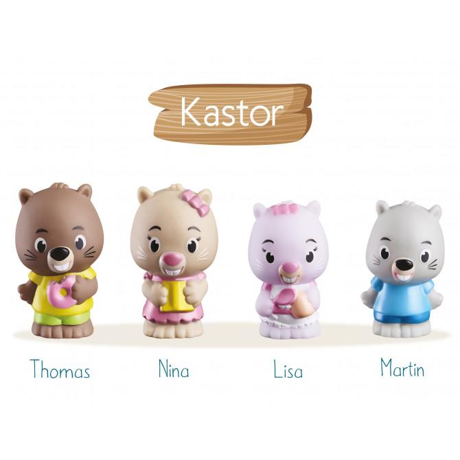 4 personnages KLOROFIL de la famille « Kastor »